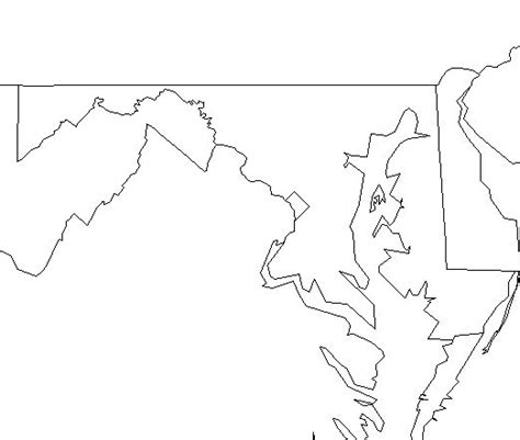Maryland Map By County Outline by Best Photos Of Maryland State Map Outline Blank Maryland County Map Maryland County Map And