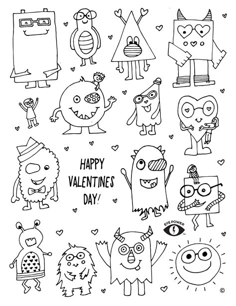 valentines coloring page free valentines coloring page printable eye power wear