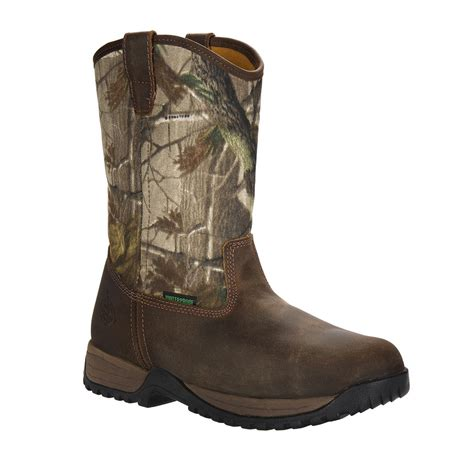 Boots Camo s boots 174 11 quot riverdale camo waterproof wellington work boots realtree 174 apg