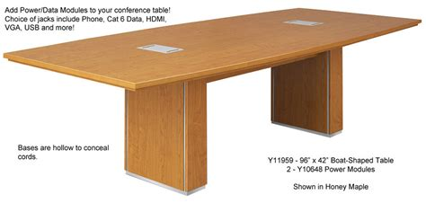 boat shaped conference table 96 quot x 42 quot custom modern boat shaped conference table w