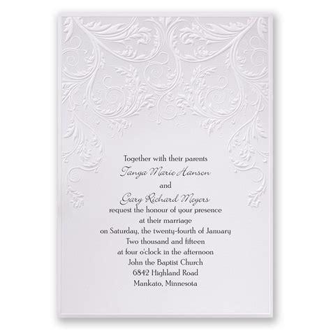 White Wedding Invitations by Shaded Grey Invitation Invitations By