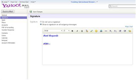 cara terbaru buat signature pada email yahoo dtechnoindo cara membuat dan menyisipkan signature tanda tangan pada
