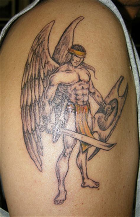 warrior angel tattoo designs outer forearm hurts warrior