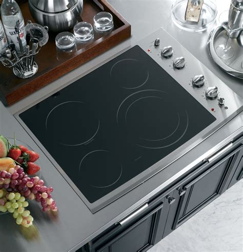 28 Inch Cooktop by Ge Pp912smss 30 Inch Smoothtop Electric Cooktop With 4