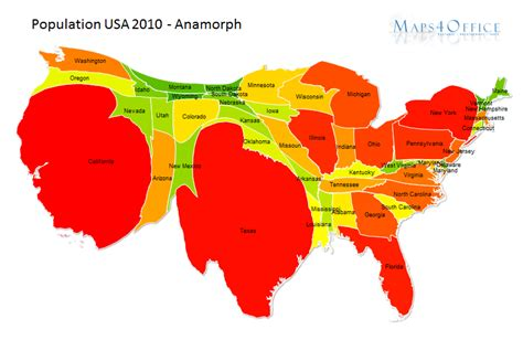 usa map with states and population population map usa states powerpoint