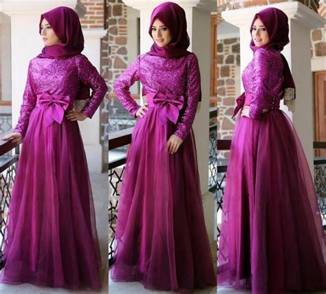 Gamis Princessa Purple Bergo dress purple prom dresses sequins prom dresses a line