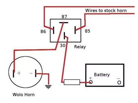 basic horn wiring diagram basic free wiring diagrams