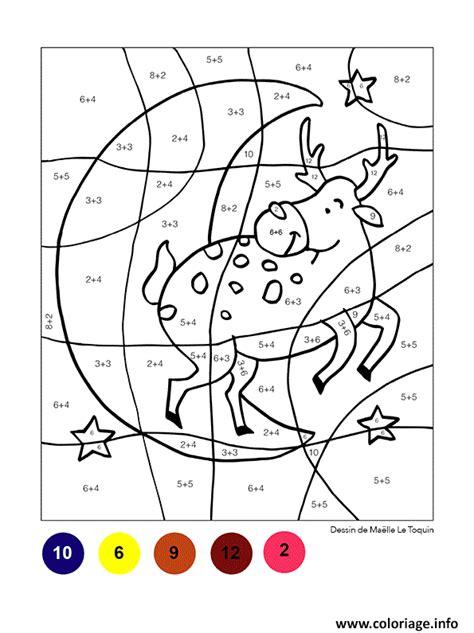 Coloriage Magique Noel Renne Dans Le Ciel Dessin Coloriage Magique Spiderman L