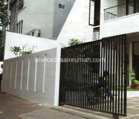 desain  gambar pagar  pintu besi minimalis modern