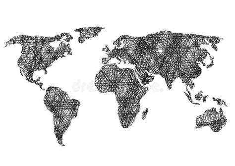 sketch your world drawing 1845435141 pencil drawing sketch world map vector illustration stock vector illustration of pencil
