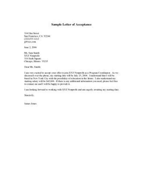 Acceptance Against Letter Of Credit Letter Sle High School Students And Open Letter On
