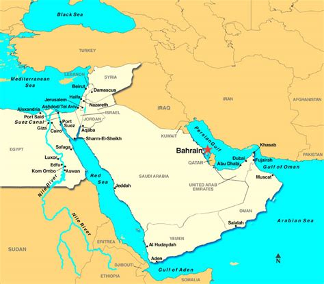 middle east map rivers and seas bahrain foreign policy in the middle of great