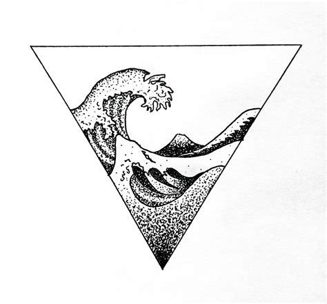 dotwork tattoo designs wave hokusai geometric dotwork design