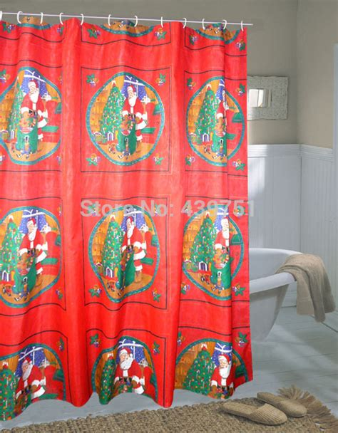discount christmas shower curtains 2014 new arrival cheap christmas shower curtains shower
