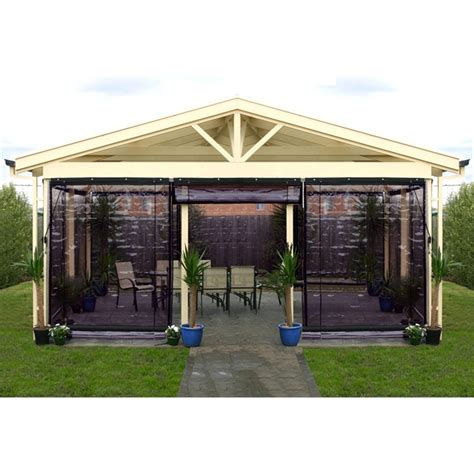 smart home products 90 x 240cm charcoal pvc outdoor bistro