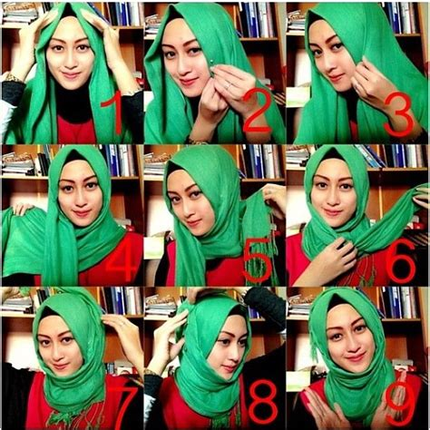 Segi 4 Terbaru cara memakai jilbab segi empat kreasi modis ala turki