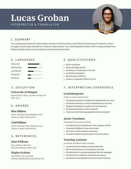 Photos On A Resume by Gray Modern Photo Resume Templates By Canva