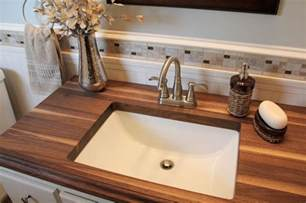 Small Bathroom Countertop Ideas 20 Bathrooms With Wooden Countertops
