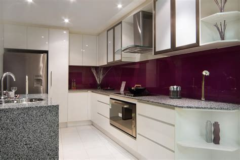 Plum Kitchen by White And Simple With A Splash Of Colour With The