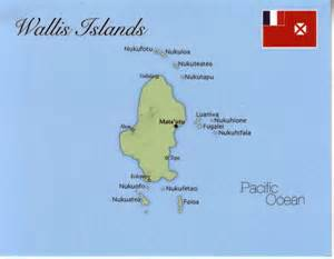 wallis islands postcard map wallis islands mappery