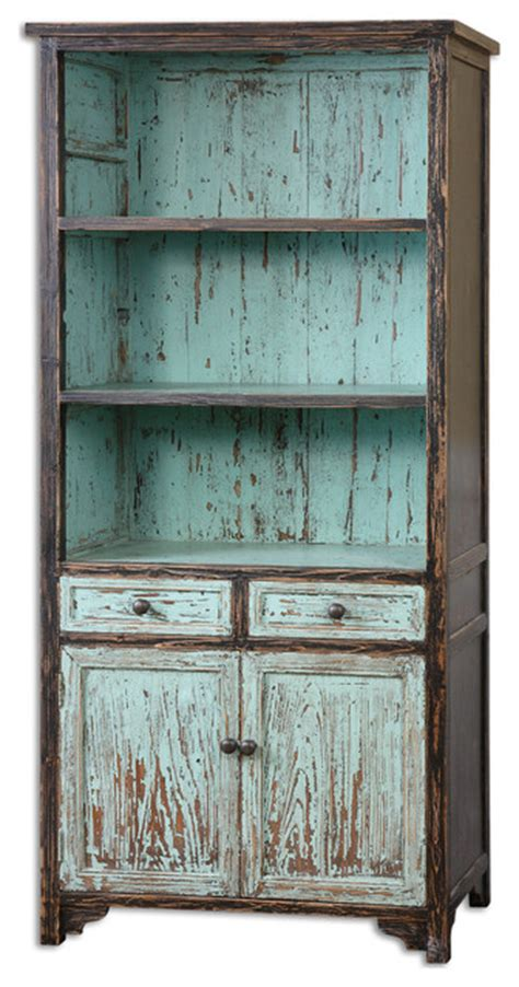 shabby french country style bookcase shelves cabinet