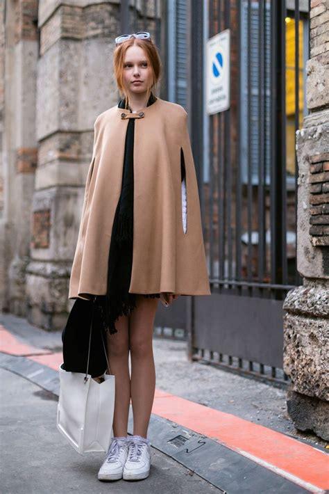 wear  winter cape  styling ideas glamour
