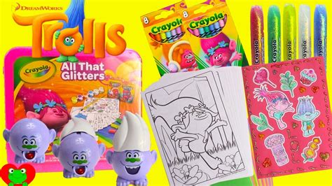 Mainan Trolls Poppy Crayola Original Painting Kit trolls poppy coloring pages crayola diy stickers and surprises 8075 on mucis