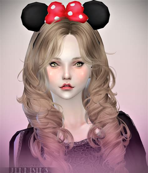 big bow hair accessory at jenni sims 187 sims 4 updates sims 4 custom content hair bows jennisims downloads sims 4