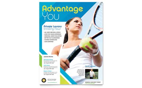 sports club template tennis club c flyer template word publisher