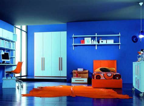 orange schlafzimmerdekor deko ideen kinderzimmer mit blau wandfarben dekor und