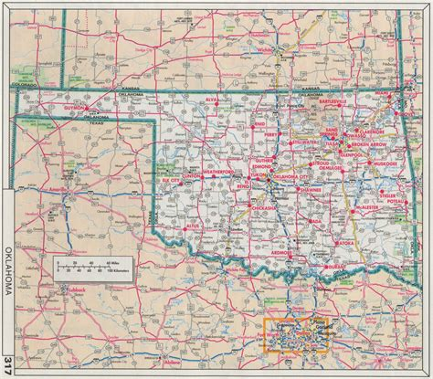 road map of oklahoma index of maps