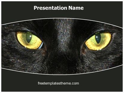 black cat templates for halloween free black cat powerpoint template