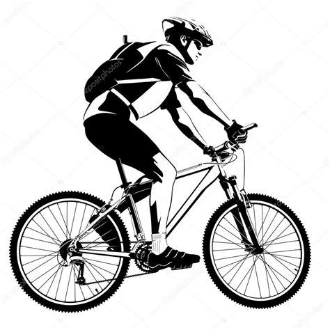 imagenes de bicicletas a blanco y negro cyclist on mountain bike stock vector 169 kalmatsui 41042769