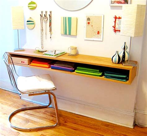 18 Diy Desks To Enhance Your Home Office Floating Desk Diy
