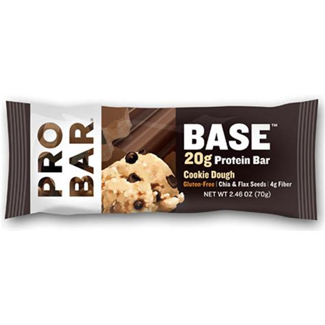 protein zip codes probar base protein bar cookie dough 12 pack pb