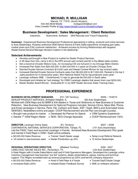 car resume exles application letter for car dealership
