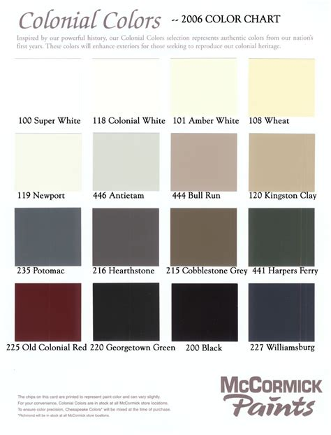 shades of brown paint chart