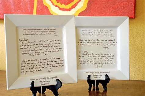 Parent Gift Letter Personal Letter To Parents On A Platter Wedding Gift From And G