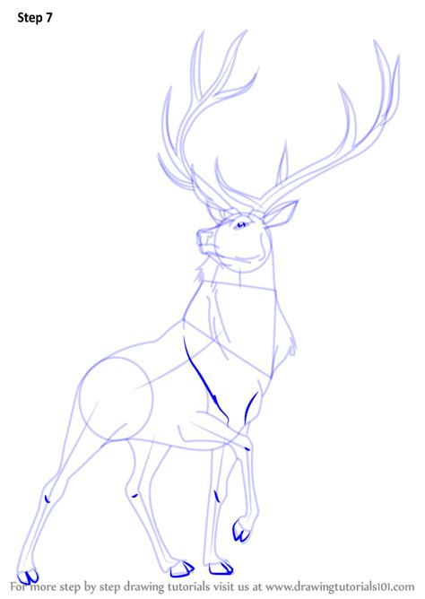 tutorial wapiti step by step how to draw the elk from fantasia