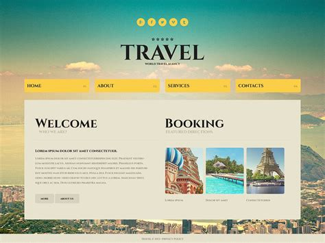 free templates for tourism websites in asp net image gallery travel websites