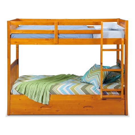 City Furniture Bunk Beds Ranger Bunk Bed With Trundle Pine Value City Furniture