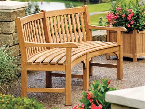 Oxford Garden Essex 7 Curved Bench English Planter Curved Outdoor Patio Furniture