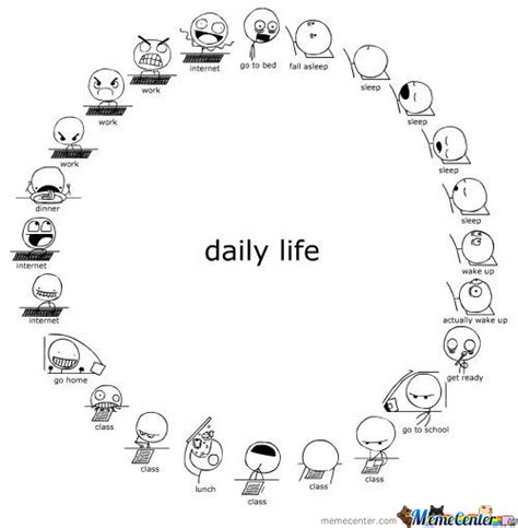 daily life schedule memes  collection  funny daily