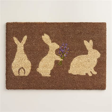 Welcome Doormats Easter Bunny Coir Doormat World Market