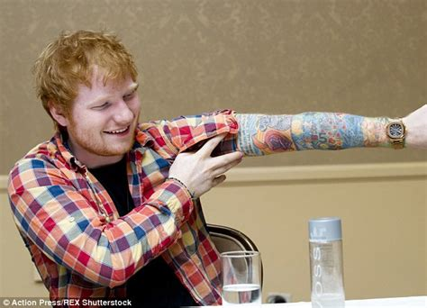 Ed Sheeran Fake Tattoo Sleeve | ed sheeran reveals lion tattoo is very much real daily
