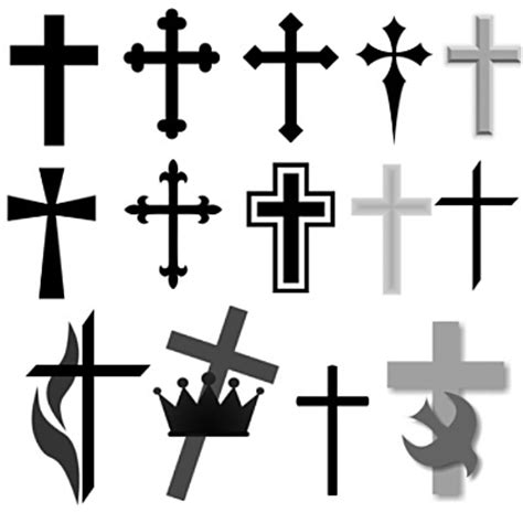 black and white cross tattoo best simple black cross 10447 clipartion
