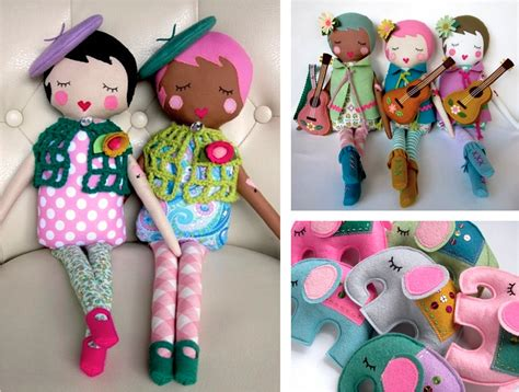 Handmade Things To Make - ebabee likes made cloth dolls from california