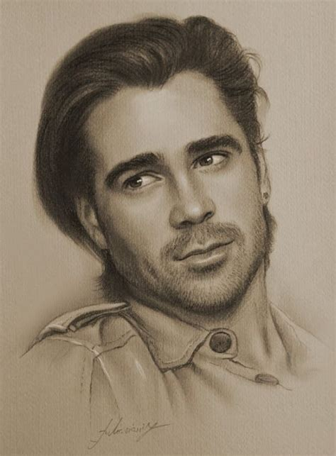 Portraits And Sketches by Colin Farrell Pencil Drawing By Krzysztof20d