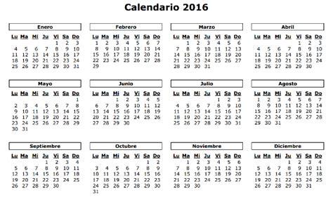calendario calendarios 2016 para argentina 3 anuales 3 calendar calendario 2016 para imprimir