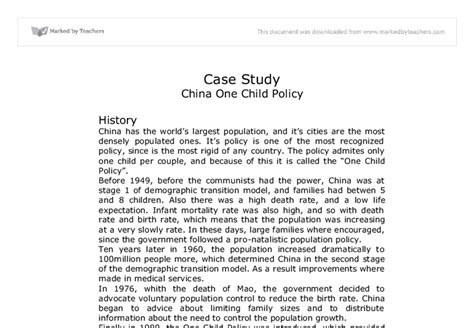 One Child Policy China Essay by China One Child Policy Essay Andreixuereb